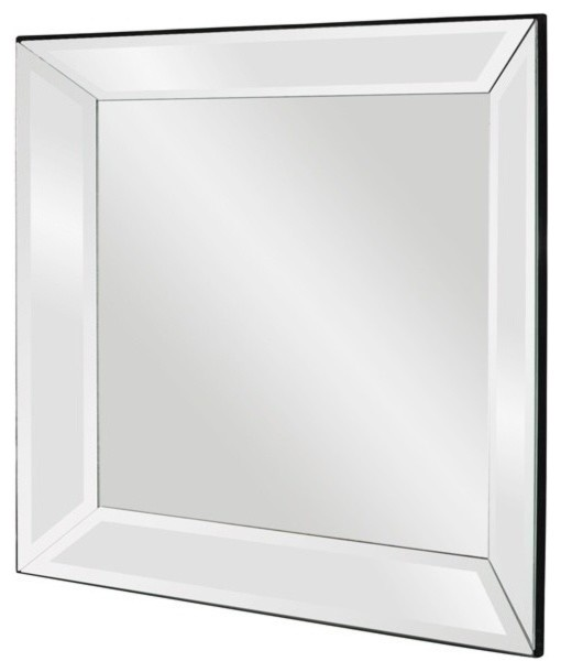 Howard Elliott 65018 Vogue Square Mirror on Mirror Mirror w/ Beveled Pitched Fra contemporary-wall-mirrors