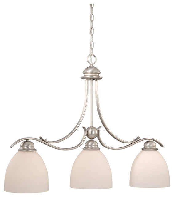 Brushed Nickel Pendant Lighting Kitchen: Vaxcel AL-PDD360BN Avalon 3-Light Kitchen Island Light