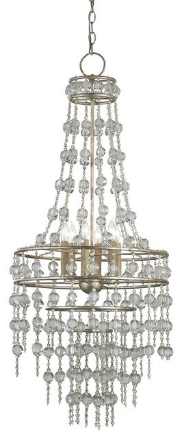 Currey and Company-9378-Rainhill - Six Light Chandelier traditional-chandeliers