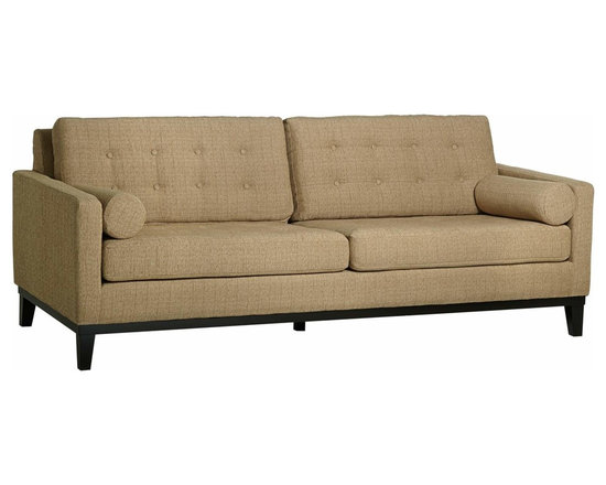 Patron Grasscloth Centennial Modern Natural Sofa - A charming contemporary centennial sofa with natural hue grasscloth upholstery that will sure be the center piece of your home. Patron Grasscloth Centennial Sofa.