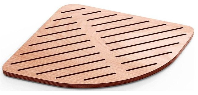 25.2 in. Shower Mat in Marine Plywood contemporary-bath-mats