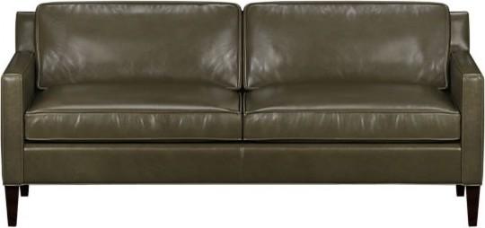 Vaughn Leather Apartment Sofa contemporary-sofas