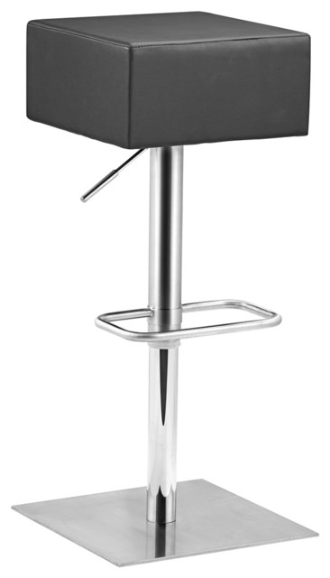Zuo Butcher Black Adjustable Height Bar or Counter Stool contemporary-bar-stools-and-counter-stools