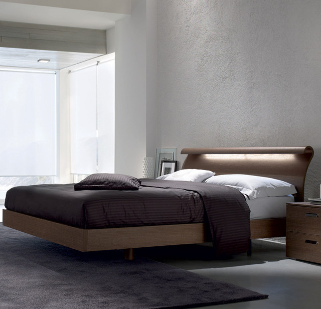 Milo Wooden Italian Platform Bed by Europeo beds