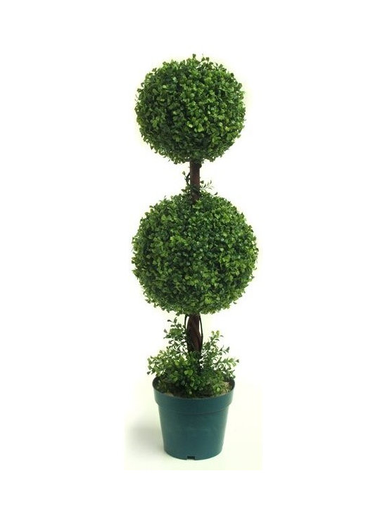Artificial Outdoor Foliage - This spiral topiary artificial outdoor boxwood is excellent for providing privacy in your outdoor room, around pools and patios and for creating realistic garden environments that do not require watering or maintenance.