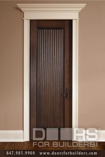 Solid wood entry doors doors for builders inc eclectic for Solid wood exterior back doors