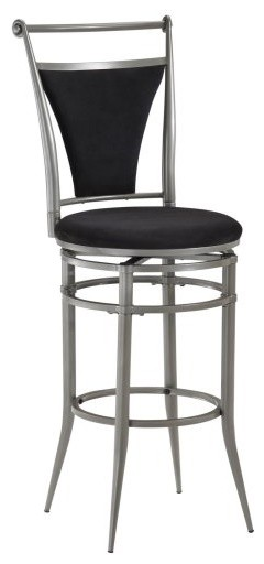 Hillsdale Cierra 26 in. Swivel Counter Stool - Pewter traditional-bar-stools-and-counter-stools