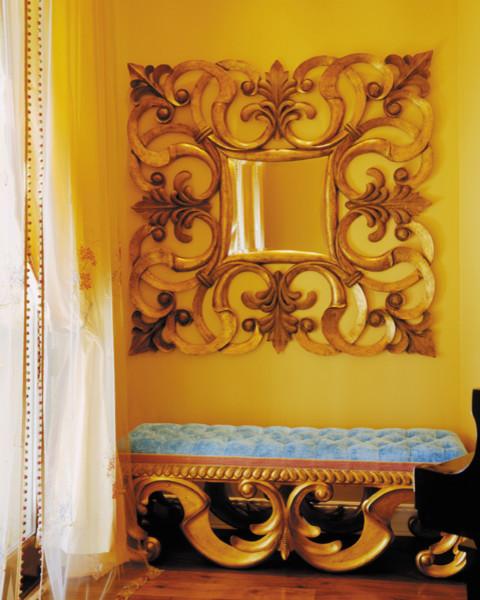 European Inspired Living Room Vignette traditional