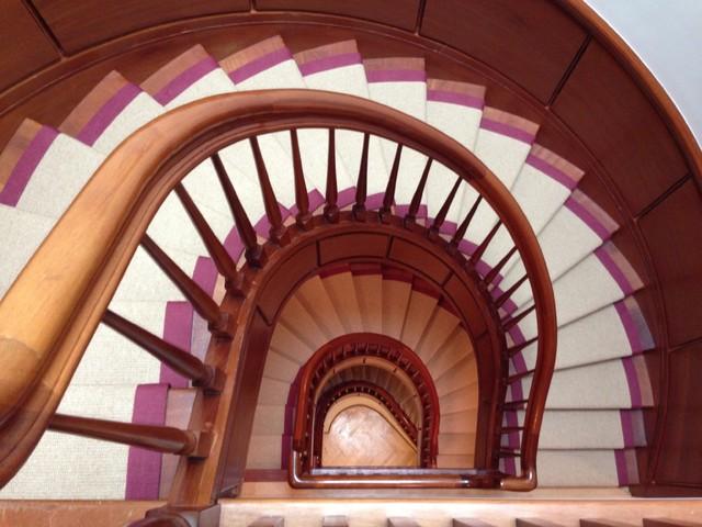 Wide Binding Sisal Runners modern-staircase