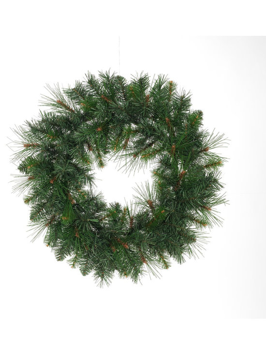 Home Accents Holiday Mixed Pine Wreath - 24 Inch -