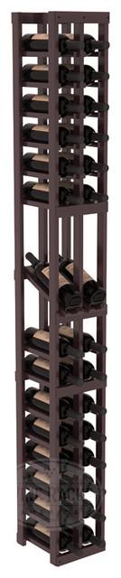 2 Column Display Row Cellar Kit in Redwood with Burgundy Stain + Satin Finish traditional-wine-racks