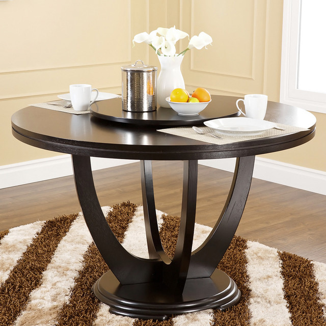 abbyson living calvin with lazy susan dining table