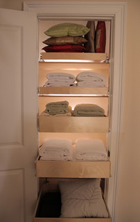 Pull Out Linen Shelves Contemporary Wardrobe Storage