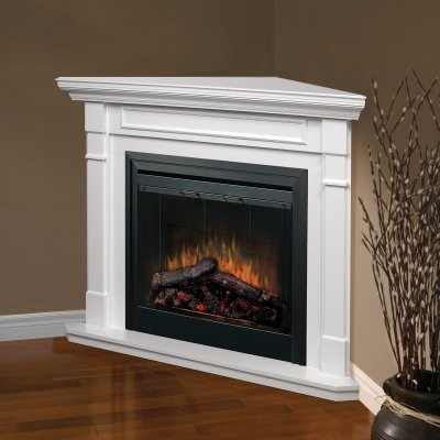 Dimplex Free Standing Corner Wall Mantel White Modern Fireplace Accessories By Hayneedle