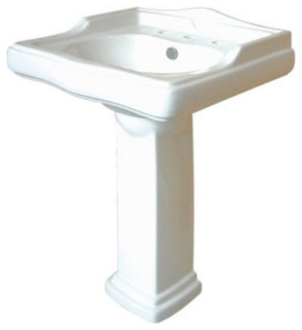 Country 24-inch for 8-inch Center Pedestal Bathroom Sink Vanity ...