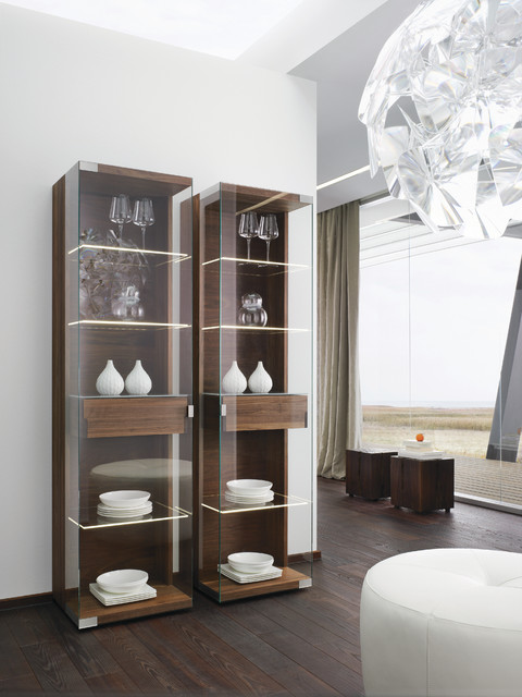 Nox Walnut Modern Display Cabinets - Modern - Buffets And Sideboards - london - by Wharfside