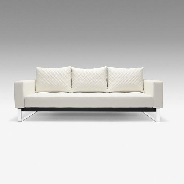 Luxuriate Sleeper Sofa In White
