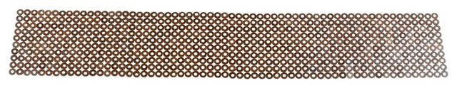 72 Inch Tablerunner in Coconut Shell Discs, Brown contemporary-tablecloths