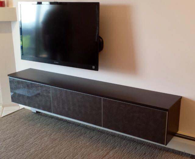 floating media center modern home theater