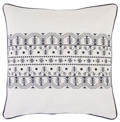 Surya Smocking Decorative Pillow - Ivory modern-pillows