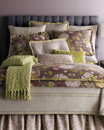 French Laundry Home Hip Berry Bed Linens Citrine Stripe Queen Coverlet traditional-bedding