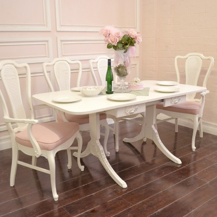 Elegant Dining Table With Drop Leafs Wings And One Leaf Insert Mediterranea