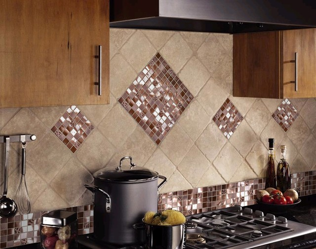 Bling Backsplash Traditional Kitchen Omaha By