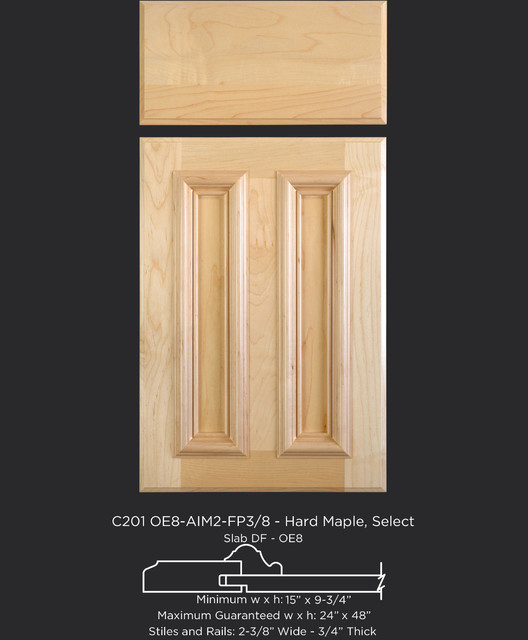 Maple Applied Molding Cabinet Door Style - Traditional - Kitchen Cabinetry - other metro - by ...