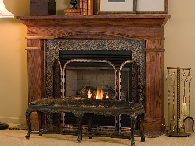 Hawthorne Wood Fireplace Mantel traditional-fireplaces
