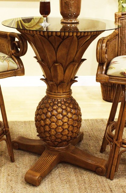 Sunset Reef Pineapple Pub Table In Tc Antique Tropical