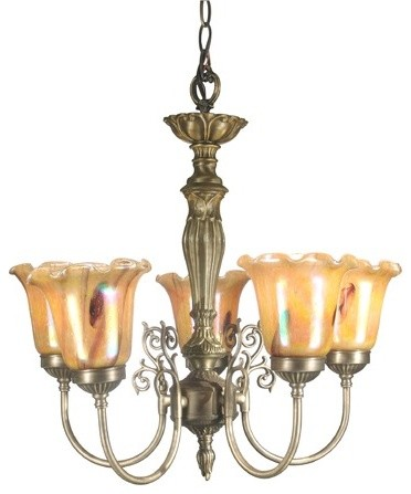 5 Light Columbus Tulip Chandelier modern-chandeliers
