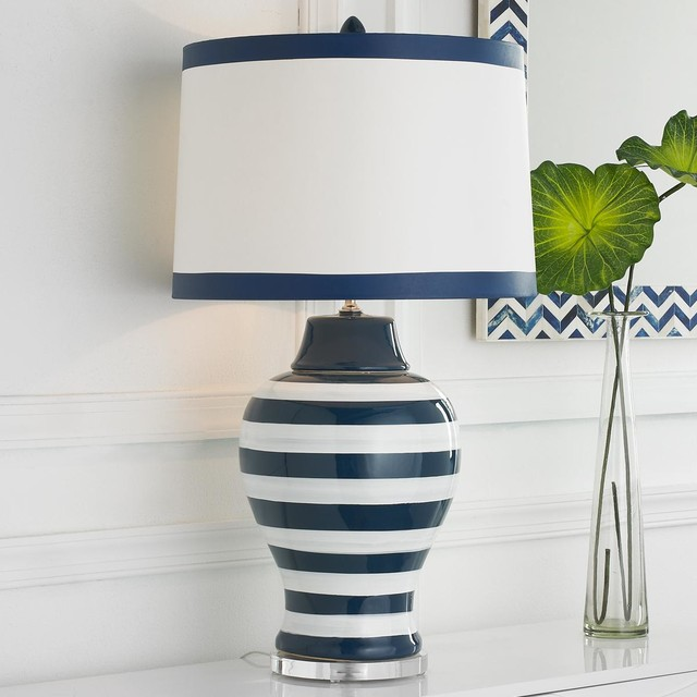 Navy Amp White Stripe Table Lamp Lamp Shades By Shades
