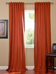 Rusty Cotenza Pole Pocket With Back-Tabs Curtain (Item Code: CZCH-CTZ9)
