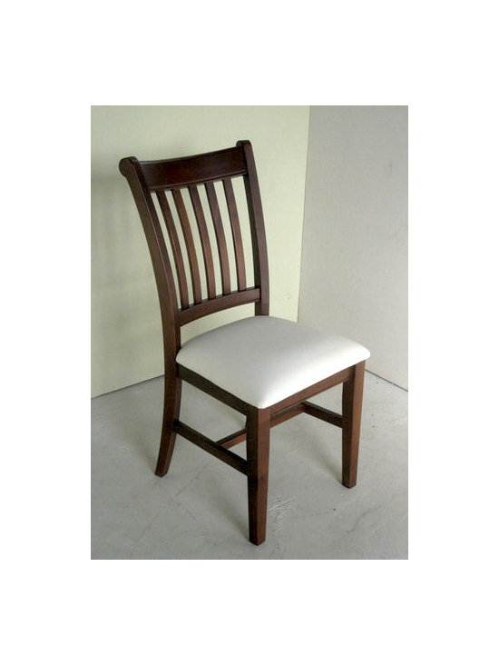 Modern Style Mission Chair With Cushion Seat - Made by http://www.ecustomfinishes.com