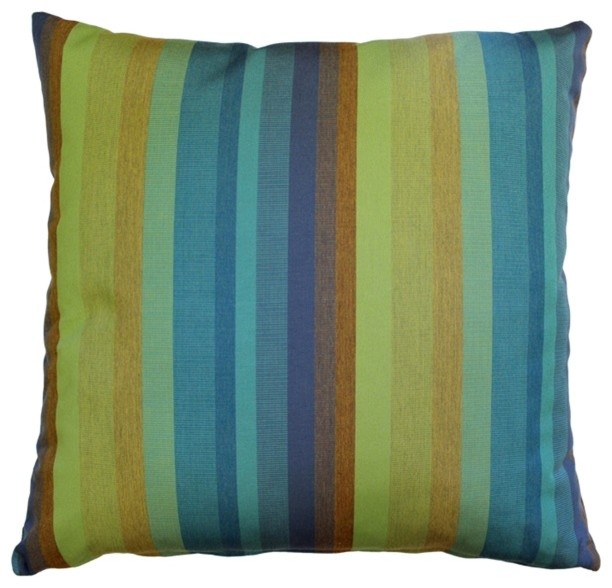 Pillow Decor Sunbrella Astoria Lagoon 20 x 20 Outdoor