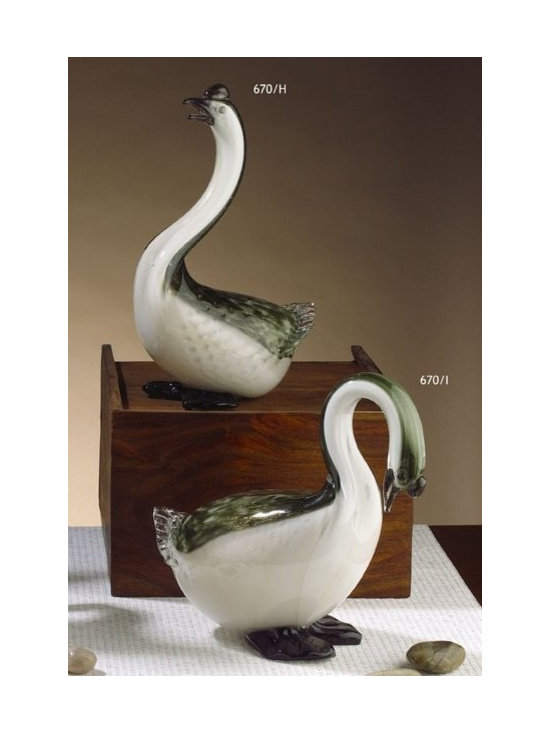 Murano Glass Sculptures and Figurines - Murano Glass Herons - COA and made to order.  More available so please contact us