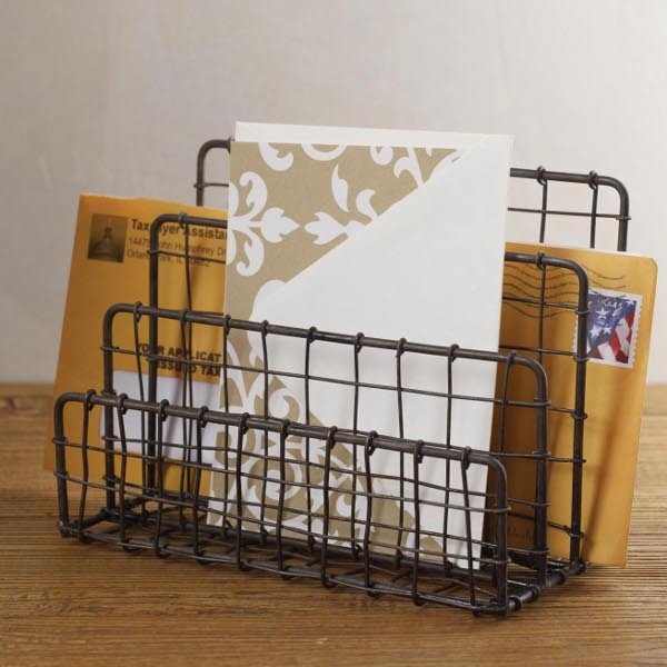 Vintage Letter Holder industrial desk accessories