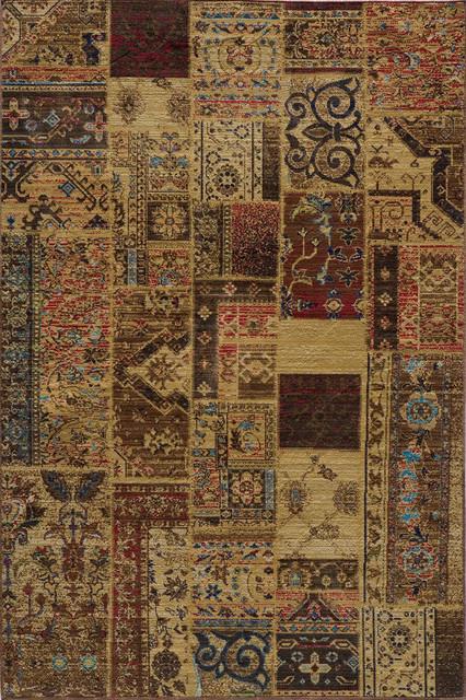 "Vintage Raspberry Southwestern 9'10"" x 12'6"" Momeni Rug by RugLots traditional-rugs"