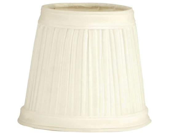 "Renovators Supply - Lamp Shades Eggshell Fabric Lamp Shade 4 1/2"" Mini Clip On - Lamp Shades: Our Eggshell Classic Shade with its attractive pleats are finished top & bottom with a band of matching fabric. Approximately 4 1/16 in. high x 3 in. top diameter, 4 1/2 in. bottom diameter. Shades clip on standard candelabra bulbs."
