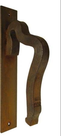 The Rail Anchor 2 Door Handle on Escutcheon Plate rustic-door-hardware