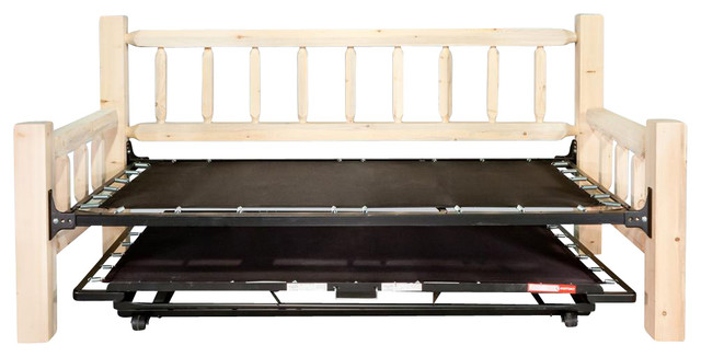 Day Bed with Trundle Bed - Rustic - Daybeds - by ShopLadder