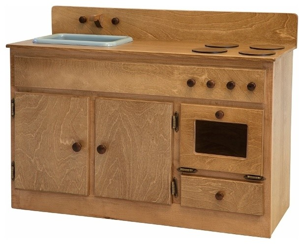 Oak Wooden Toy Kitchen Sink Stove Oven Combination Waldorf