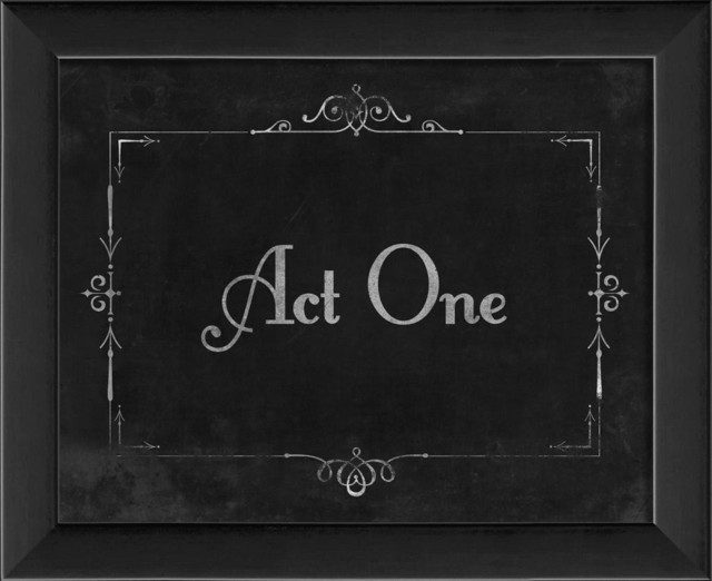 Silent Movie Act One Framed Artwork - Contemporary - Prints And Posters - by The Artwork Factory