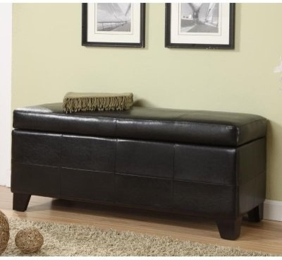 Upholstered Milano Storage Bench modern-indoor-benches