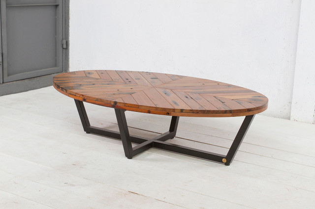 Duke Oval Coffee Table Contemporary Coffee Tables