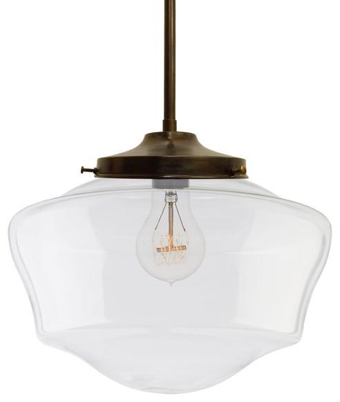 Http Www Houzz Com Photos 27726060 Schoolhouse Clear Glass Bronze Pendant Light Traditional Pendant Lighting