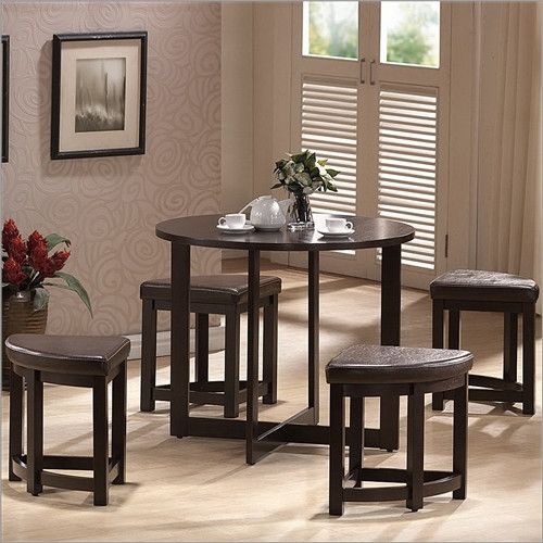 Baxton Studio Rochester 5 Piece Dining Set modern-dining-tables