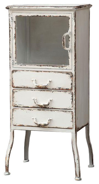 Distressed Metal Cabinet - Modern - Storage Cabinets - by Dot & Bo