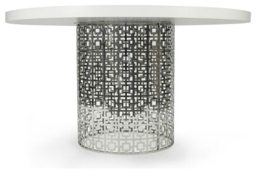 Nixon Dining Table, White modern din
