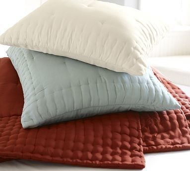 Olivia Silk Sham, Standard, Dark Porcelain Blue traditional-pillowcases-and-shams